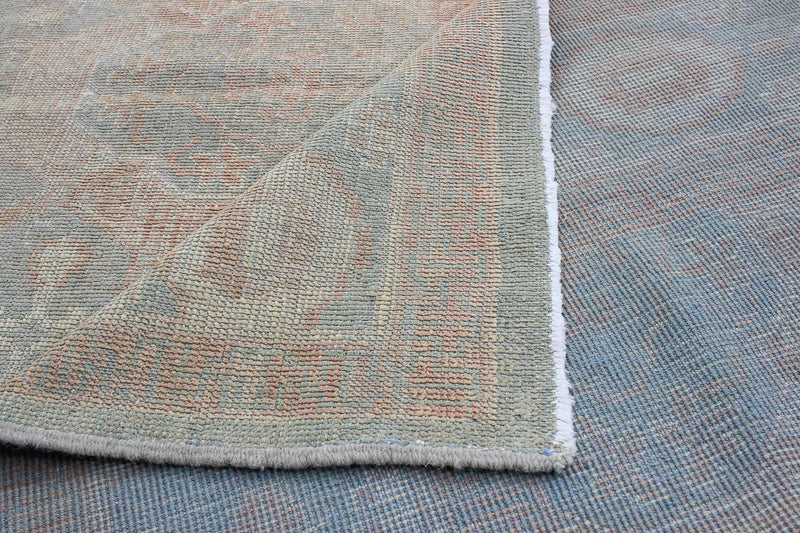 "Gilda /  5'11"" x 8'2""  Vintage Turkish, Peach and taupe , Handmade wool Rug"