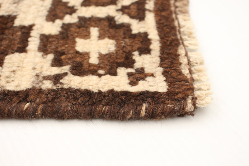 "Filas / 5'10"" x 8'10"" , Vintage Tribal Afghan ,Neutral Beige, Ivory and Brown , Handmade wool Rug"