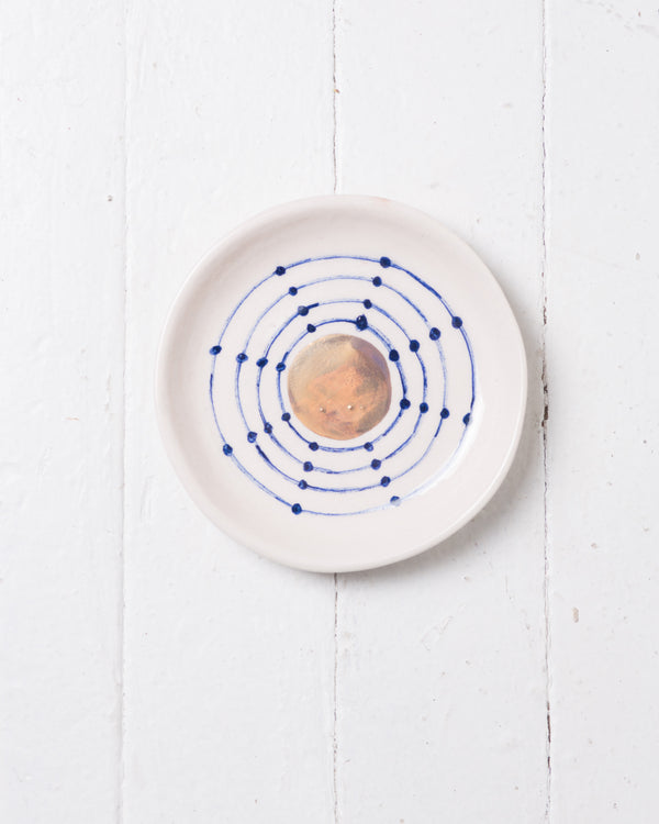 +Cosmic+ Round Ceramic plate, Jewelry Holder, Handmade, Ceramic, artisan Pottery 6x6 Inch diameter