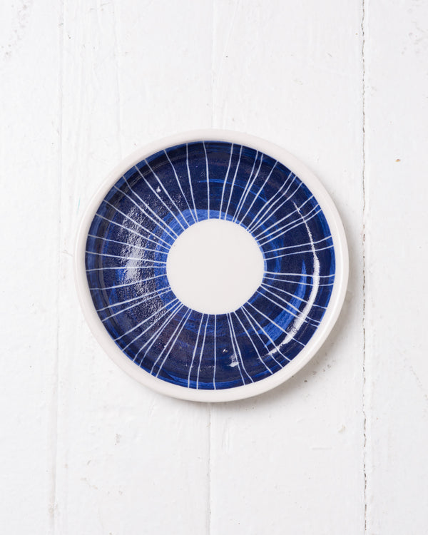 +Eclipse+ Round Ceramic plate, Jewelry Holder, Handmade, Ceramic, artisan Pottery 6x6 Inch diameter