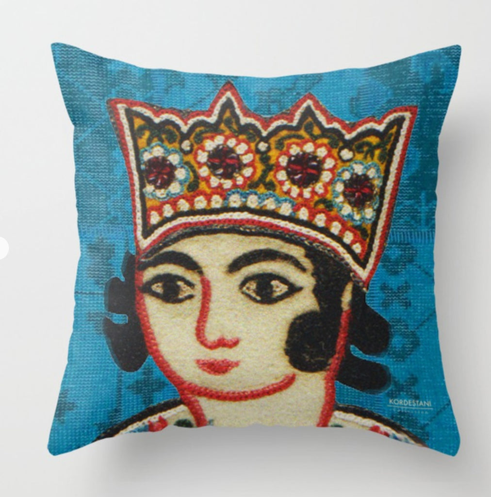 "King, Blue,  16"" x 16  n King Printed Pillow Cover"
