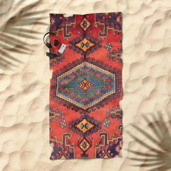 Persis  Beach Towel in Orange and blue