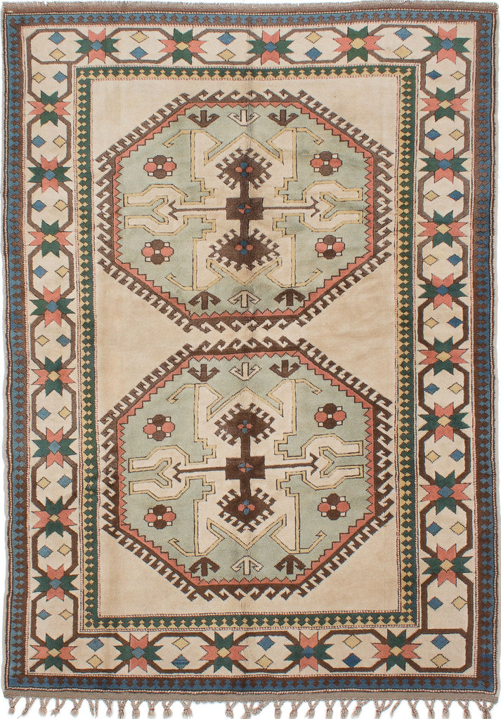 "Super Sale 6'9"" x 9'9"" - Antique Shiravan Turkish  - Rug"