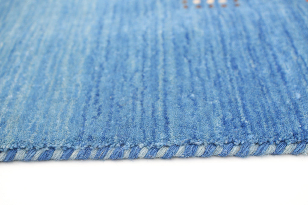 "Super Sale  /Isolde /Nepalese Gabbeh , Blue and Variations of blue, Ombre style ,  handwoven ,  5'10"" x 8'10"""
