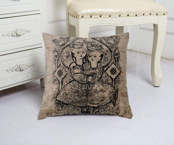 Lovers Rock // 16 by 16 Throw pillow handmade