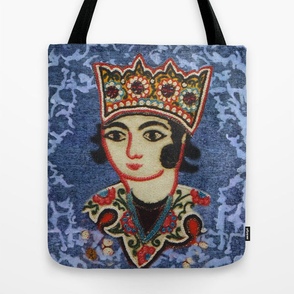 King Tote Bag In Blue For Him