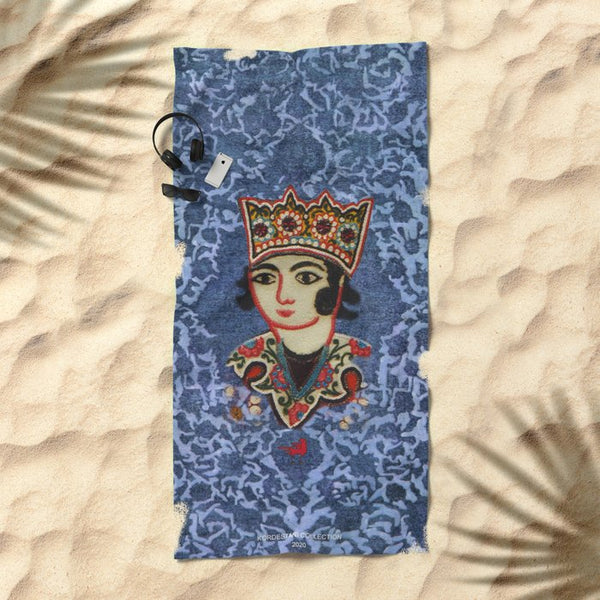 King  Beach Towel In Blue For Him