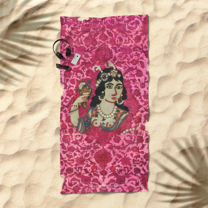 Queen Beach Towel In Pink for Her