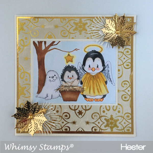 Penguin Nativity - Digital Stamp - Whimsy Stamps