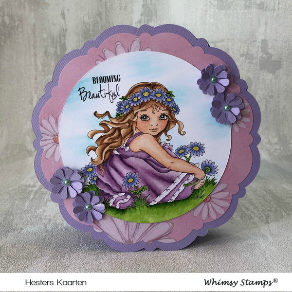 Crown of Daisies - Digital Stamp - Whimsy Stamps