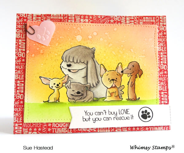 Adopt Don't Shop DOGS Clear Stamps - Whimsy Stamps