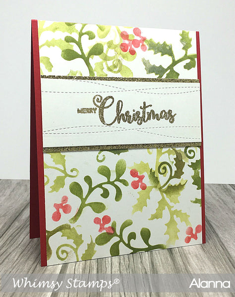 Christmas Branches  Die Set - Whimsy Stamps