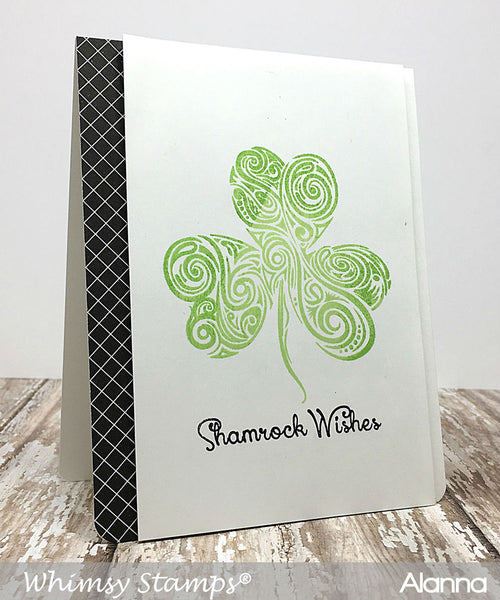 Shamrock Swirl Clear Stamps