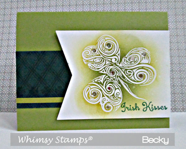 Shamrock Swirl Clear Stamps - Whimsy Stamps