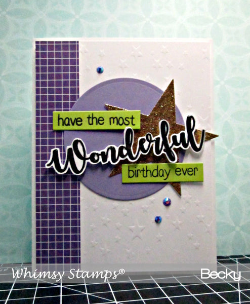 Star Galaxy Stencil - Whimsy Stamps