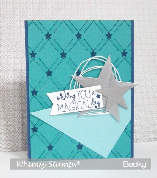 Lattice Background Rubber Cling Stamp - Whimsy Stamps