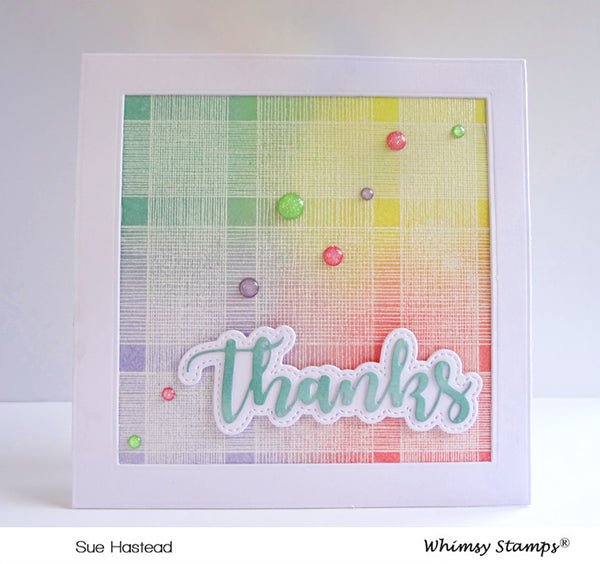Thanks Word and Shadow Die Set - Whimsy Stamps