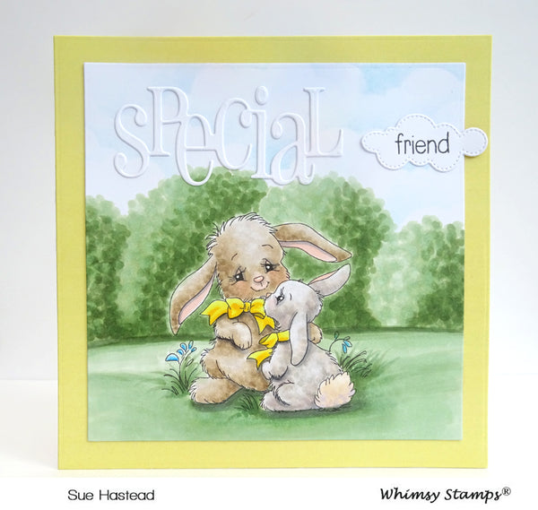 Bunny Mom Rubber Cling Stamp - Whimsy Stamps