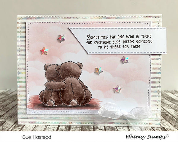 Caregiver Hugs Clear Stamps - Whimsy Stamps