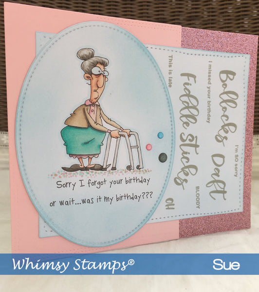 Cheeky Sentiments Clear Stamps - Whimsy Stamps