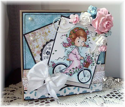 Rose's Bike Ride - Digital Stamp - Whimsy Stamps