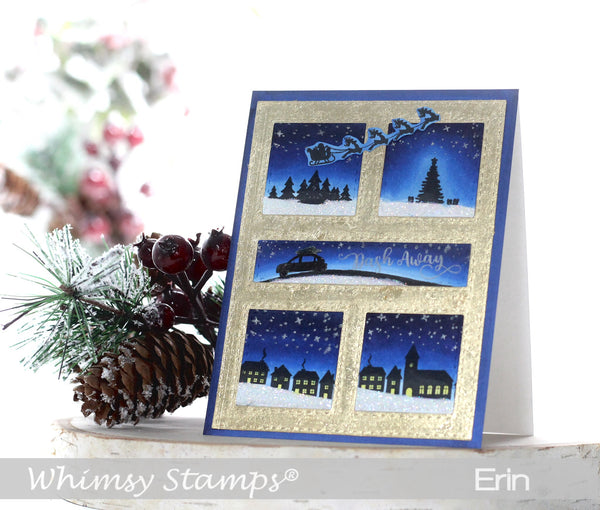 Dash Away Clear Stamps - Whimsy Stamps