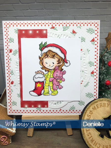 Cinnamon with Stocking - Digital Stamp