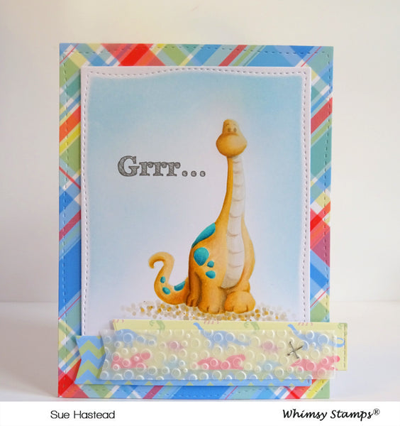 Dinosaur Friends Clear Stamps - Whimsy Stamps
