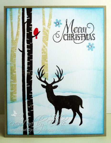 Winter Wonderland Rubber Cling Stamp