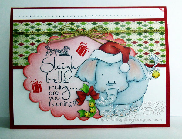 Jungle Bells Two - Elephant - Digital Stamp - Whimsy Stamps