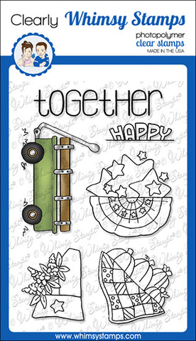 **NEW Fill a Wagon Clear Stamps - Whimsy Stamps