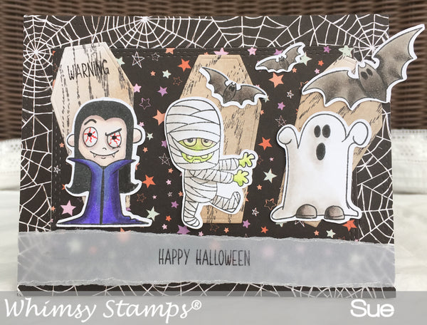 Halloweeners Clear Stamps - Whimsy Stamps