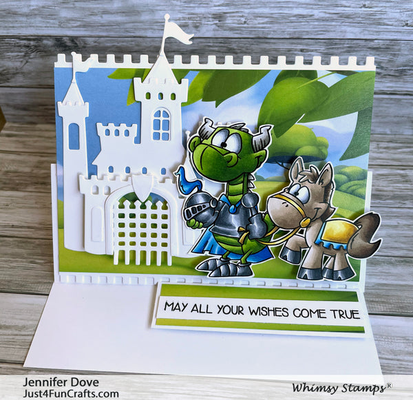 **NEW Knight Dragons Clear Stamps - Whimsy Stamps