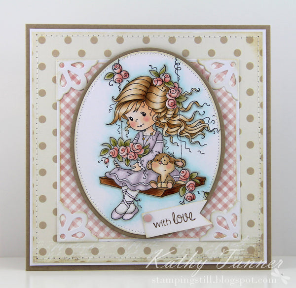 Emily Rubber Cling Stamp - Whimsy Stamps