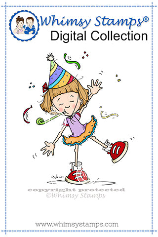 Let's Party - Digital Stamp - Whimsy Stamps