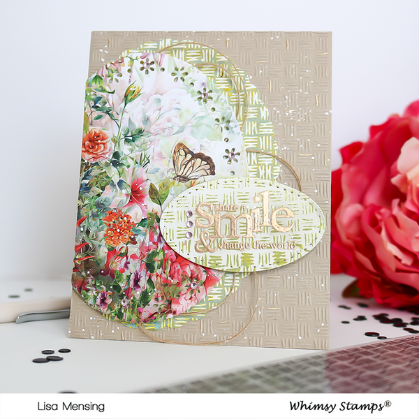 **NEW Slimline Embossing Folder - Thatched - Whimsy Stamps