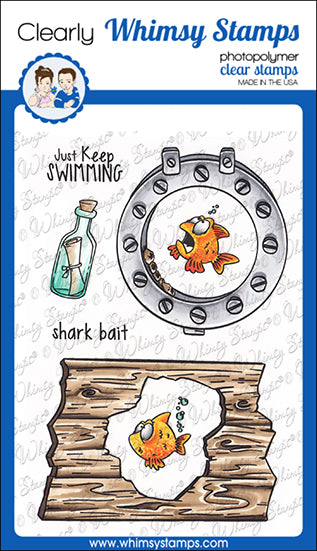 **NEW Lookin' Shark Elements Clear Stamps - Whimsy Stamps