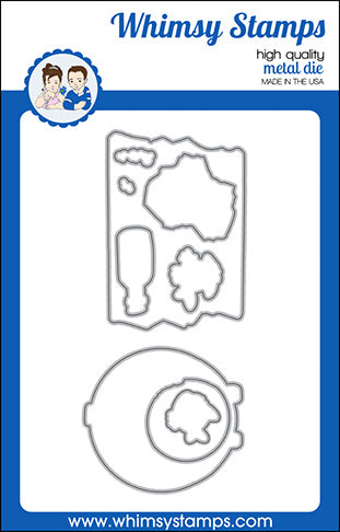 **NEW Lookin' Shark Elements Outlines Die Set - Whimsy Stamps