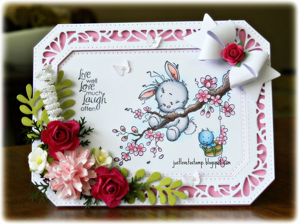 Springtime Rubber Cling Stamp - Whimsy Stamps