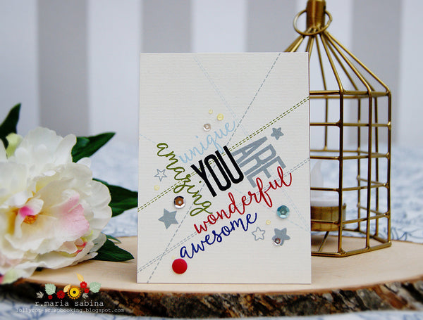 You Are Clear Stamps - Whimsy Stamps
