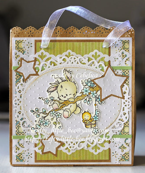 Springtime Rubber Cling Stamp