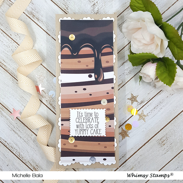 **NEW 6x6 Paper Pack - Eat Cake - Whimsy Stamps