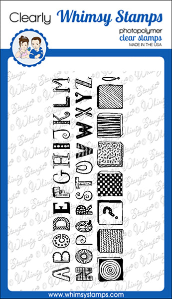 **NEW Quirky ABC Clear Stamps - Whimsy Stamps