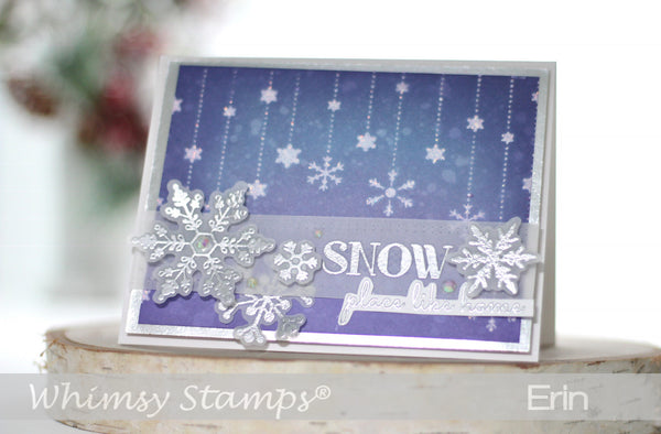 Snow Dangle Stencil - Whimsy Stamps