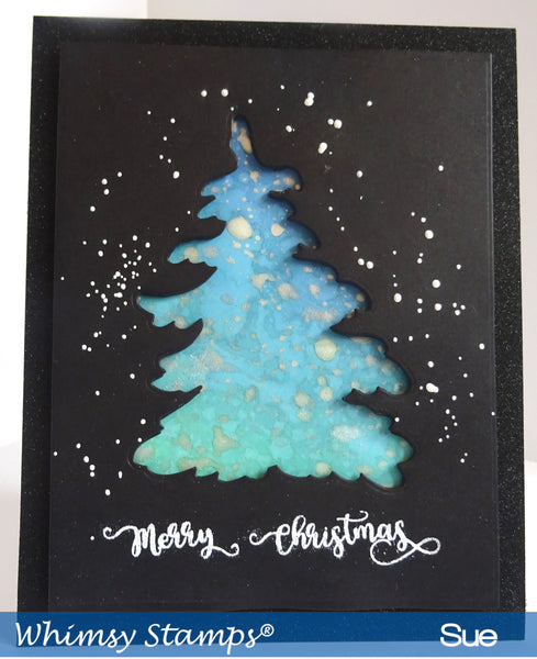 Snowy Trees Die Set - Whimsy Stamps