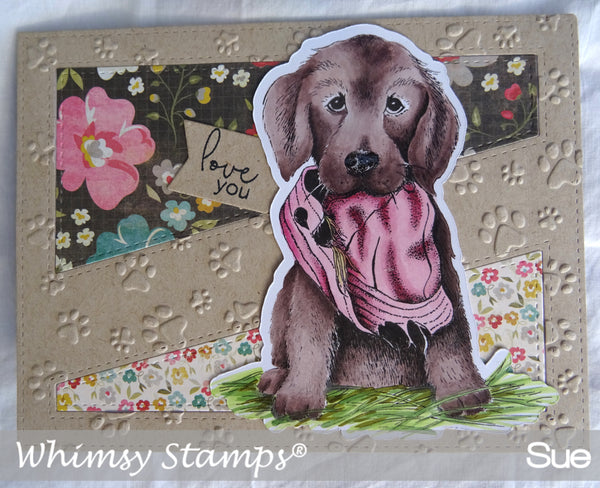 Bad Doggy Rubber Cling Stamp - Whimsy Stamps