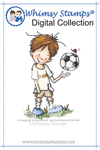 The Game Is In The Player - Digital Stamp - Whimsy Stamps