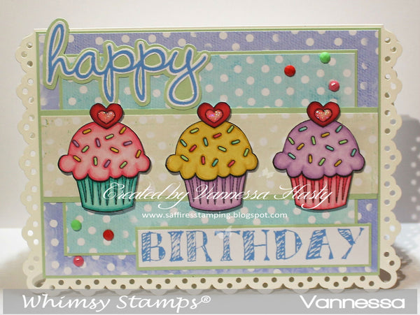 Happy Birthday Sentiments - Digital Sentiments - Whimsy Stamps
