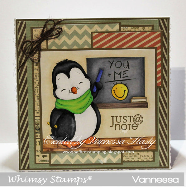 Penguin Teacher - Digital Stamp - Whimsy Stamps