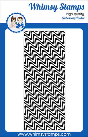 **NEW Slimline Embossing Folder - Wave Lengths - Whimsy Stamps
